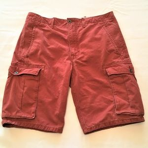 Mens Levis Cargo Fit Brick Red Jean Shorts size 32